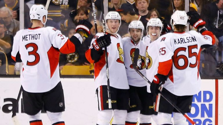 The Ottawa Senators celebrate
