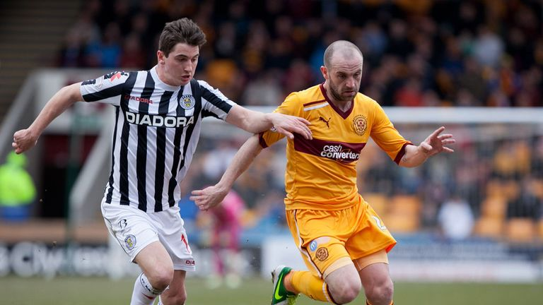 James McFadden (right): Scored a late free-kick to earn Motherwell a draw