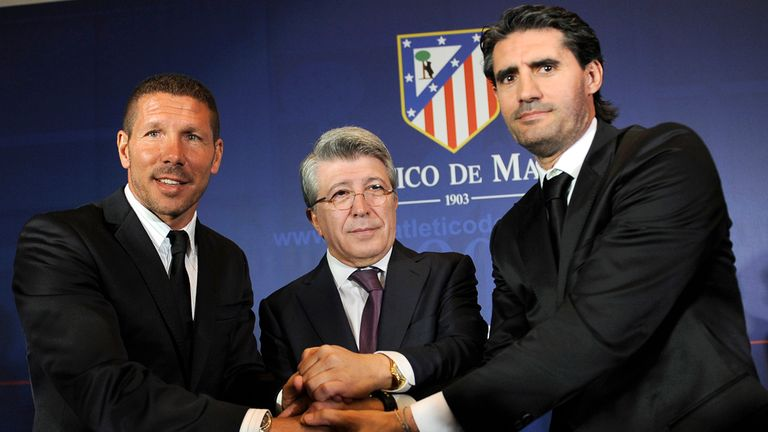 Jose Luis Perez Caminero (right): Hailed Gimenez as a 'natural talent'