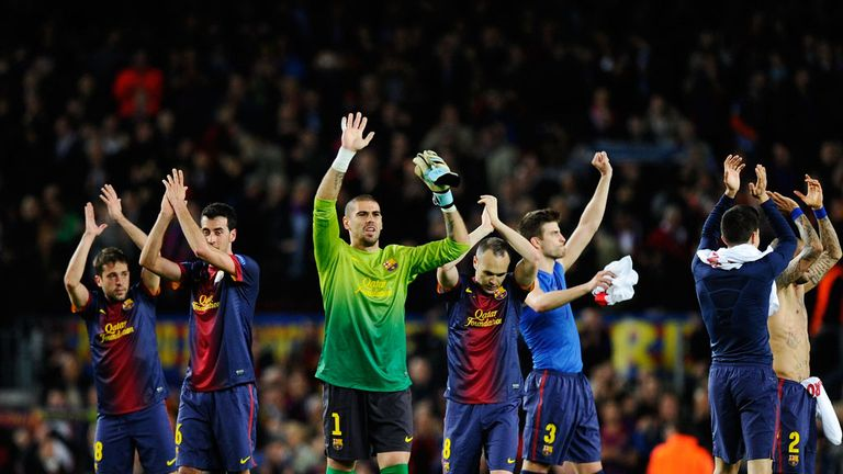 Barcelona: Hoping to celebrate their title success