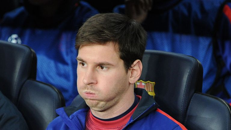 Lionel Messi: Played the final 28 minutes against PSG