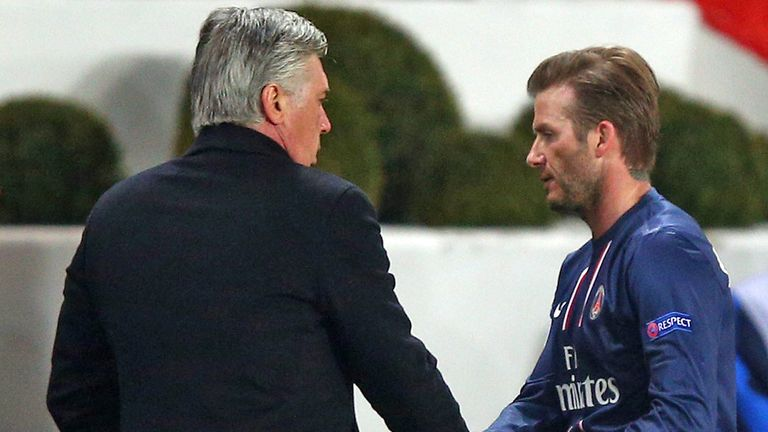 David Beckham: Sent off at Evian