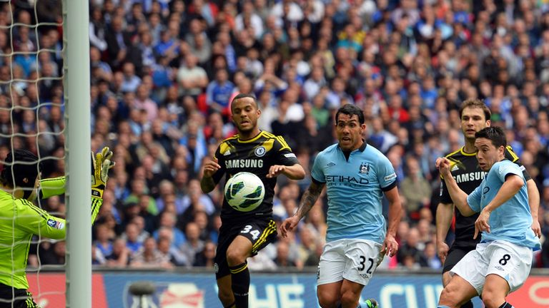 Samir Nasri: On target against Chelsea at Wembley