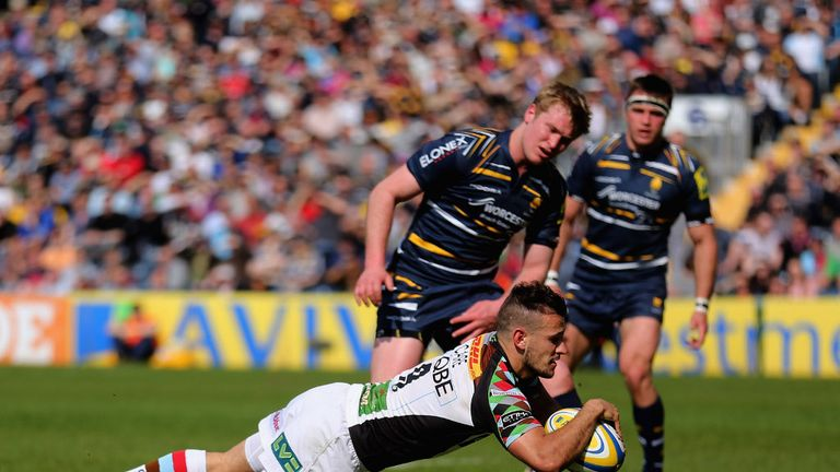 Danny Care: Scored a brace in Harlequins' 42-26 win at Worcester