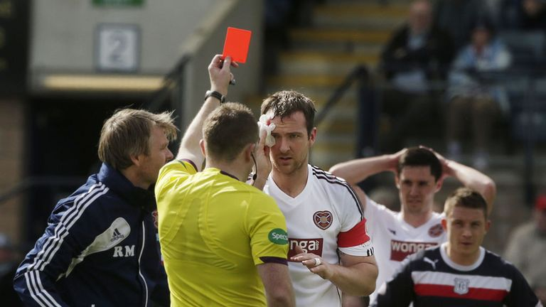 Andy Webster: Suspension served after his red card at Dens Park
