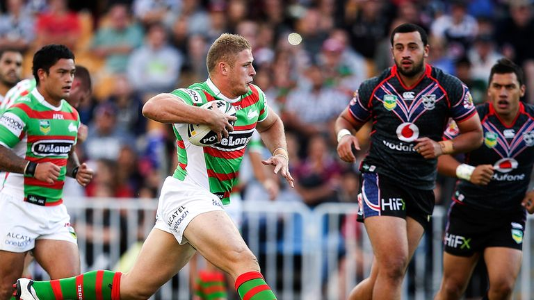 George Burgess' performances for South Sydney have impressed England coach Steve McNamara