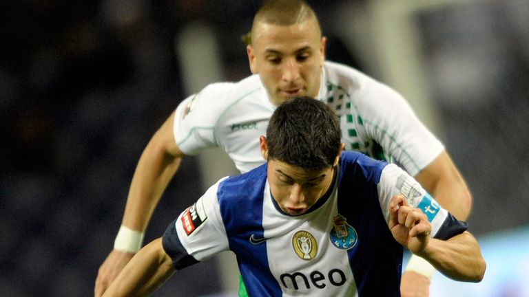 Nabil Ghilas, in action against Porto, is flattered by reported Everton interest
