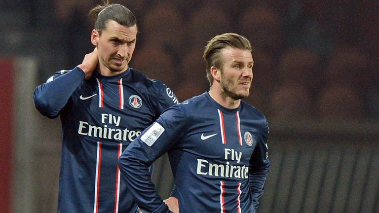 Zlatan Ibrahimovic: The striker wants David Beckham to stay in Paris