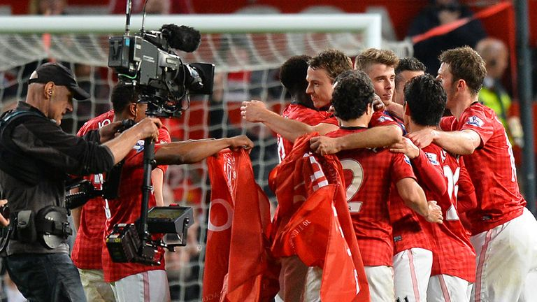 Manchester United were crowned champions after Monday's 3-0 win over Aston Villa at Old Trafford
