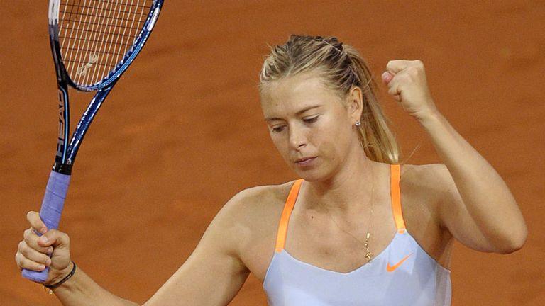 Maria Sharapova: Edged out home favourite Angelique Kerber