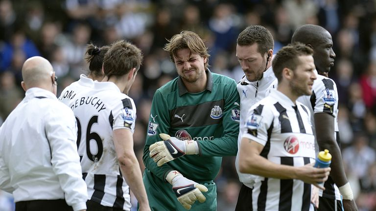 Tim Krul: Dislocated his shoulder during Sunday's league defeat to Sunderland