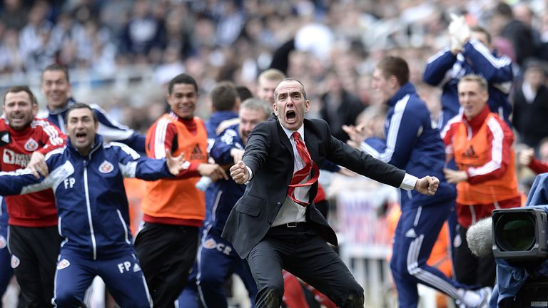 Di Canio: Celebrated vital derby win on Sunday