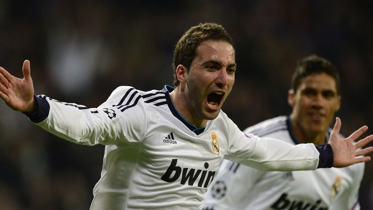 Gonzalo Higuain: Has vied with Karim Benzema for striker's role at the Bernebeu this season