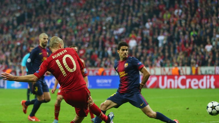Arjen Robben netted as Bayern routed Barcelona