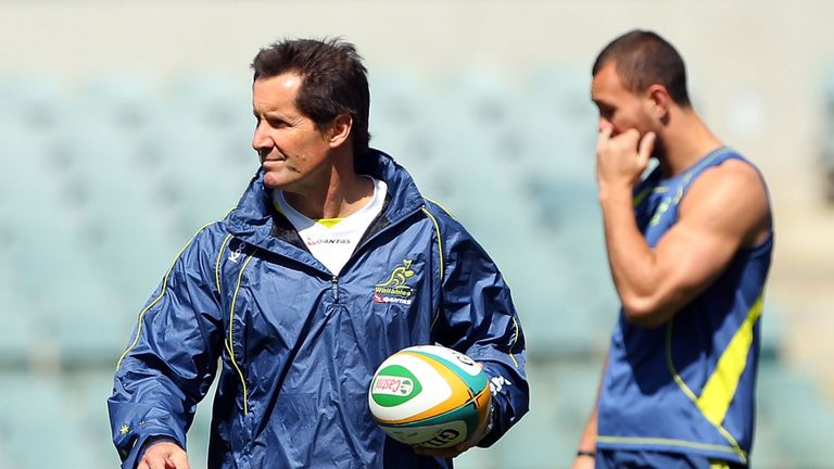 Quade Cooper (R): Insists he has no issue with coach Robbie Deans