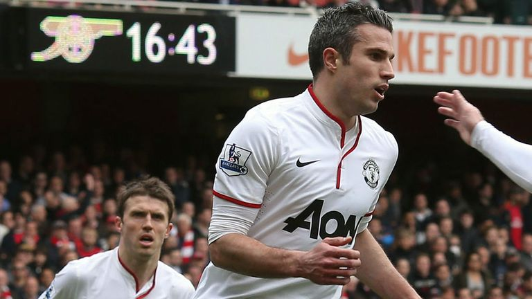 Robin van Persie is relishing holding the Premier League trophy