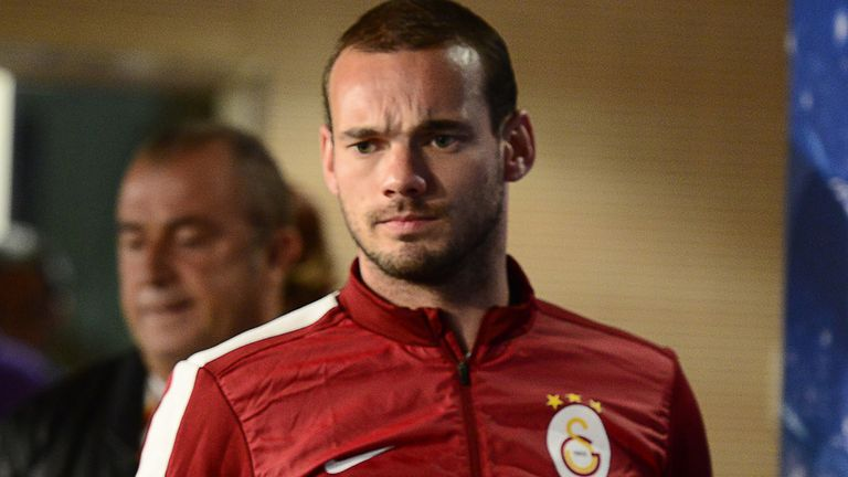 Wesley Sneijder: Rounded off the scoring for Galatasaray