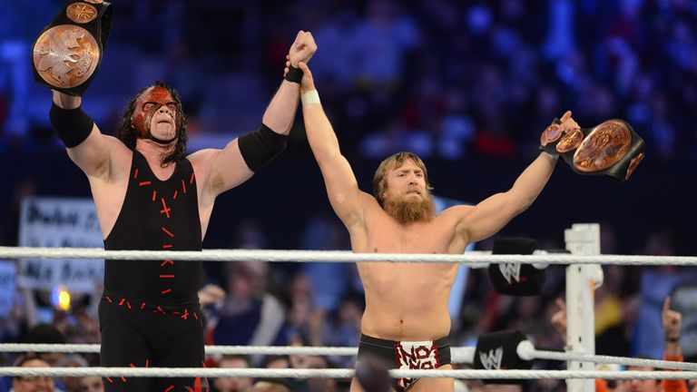 Friends no longer: former WWE Tag Team Champions Kane and Daniel Bryan are now rivals