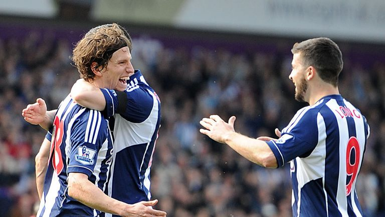 Billy Jones: Celebrates his goal against Newcastle