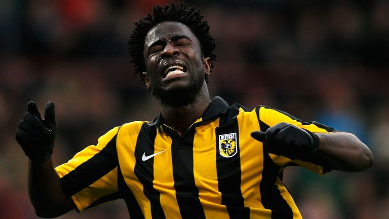 Wilfried Bony: On the scoresheet for Vitesse Arnhem