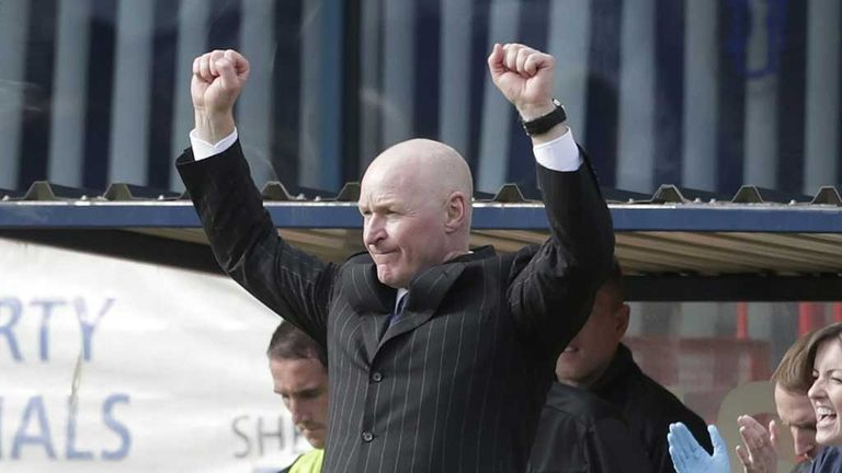John Brown: Dundee manager celebrates win over Hearts