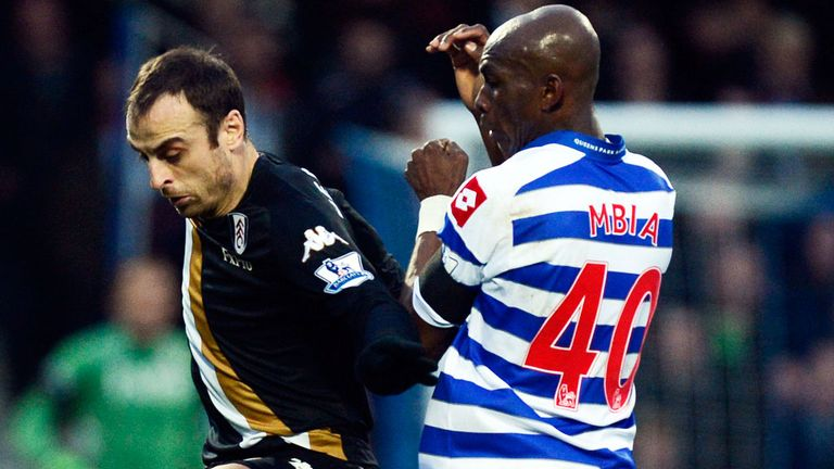 Stephane Mbia (right): Joins Sevilla on a season-long loan
