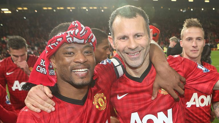Ryan Giggs: Celebrating the Premier League triumph with Patrice Evra