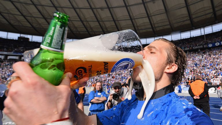 Peter Pekarik: Celebrates Hertha Berlin's promotion