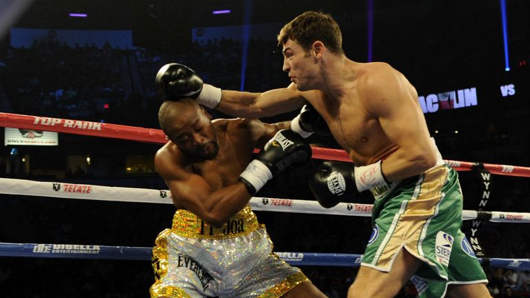 Joachim Alcine was hurt early on by Macklin, but back at 154lb is confident of victory