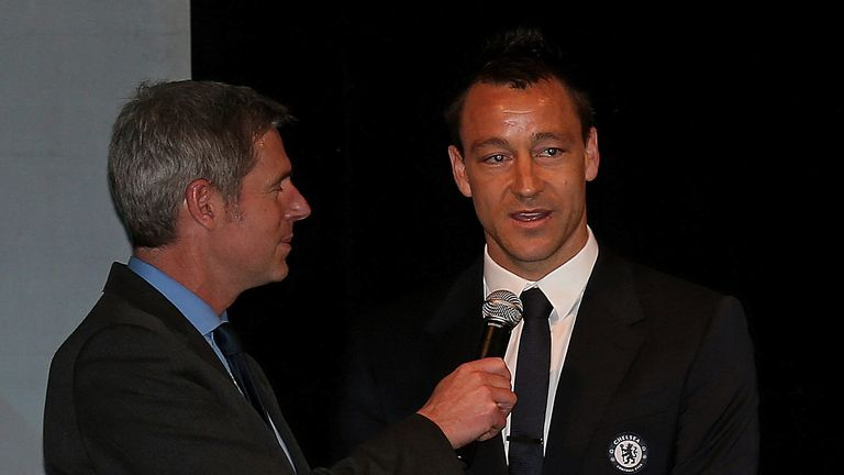 John Terry: Refused to shake the hand of David Bernstein at the Champions League handover ceremony