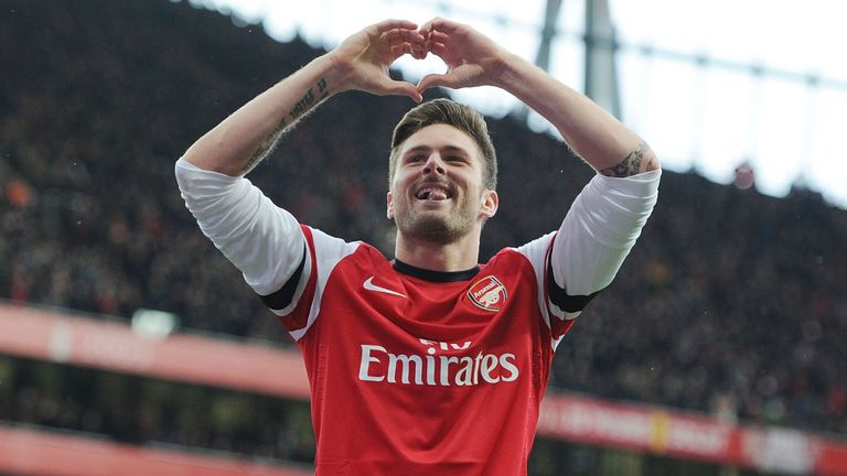 Olivier Giroud: No regrets over Arsenal switch