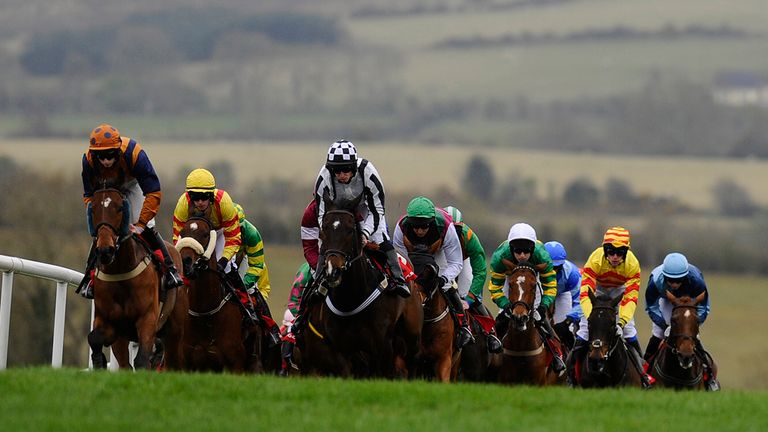 Runners in action at Punchestown