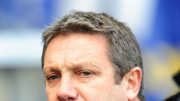 Hull FC coach Peter Gentle during the Super League match at the KC Stadium, Hull.