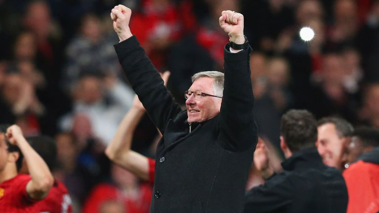 Sir Alex Ferguson celebrates another Premier League title