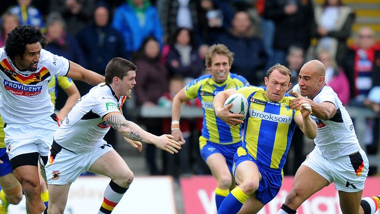 Micky Higham in action for Warrington