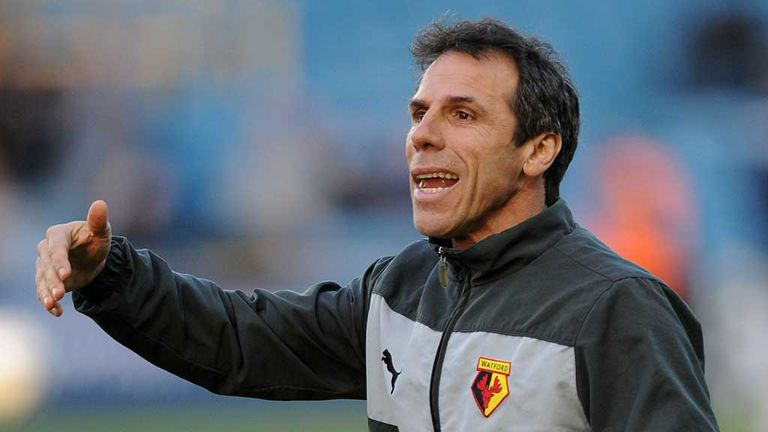 Gianfranco Zola: Takes his Watford side to Leicester on Friday