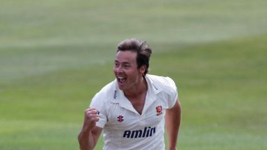 Graham Napier of Essex celebrates another wicket