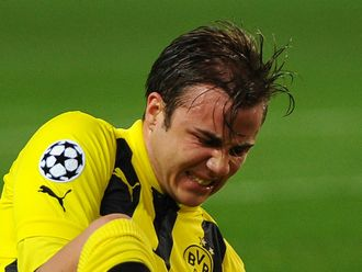 Mario Gotze: In a fitness battle to feature in the Champions League final