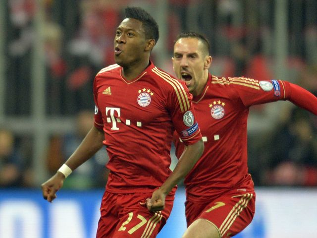 David Alaba gave Bayern a first-minute lead