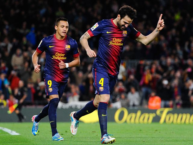 Cesc Fabregas: hat-trick hero for Barca