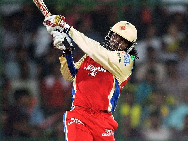 Chris Gayle: Didn't hang around on his way to a 30-ball ton