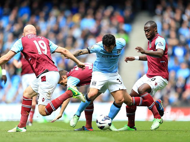 Carlos Tevez in action against West Ham