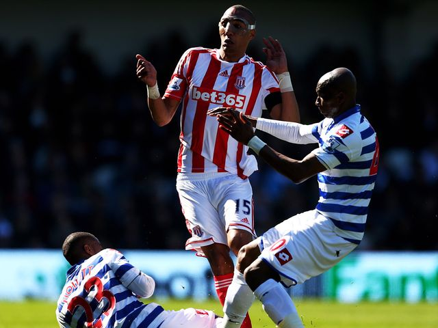 Stoke midfielder Steven Nzonzi's progress is thwarted