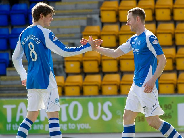 Murray Davidson and Steven MacLean celebrate