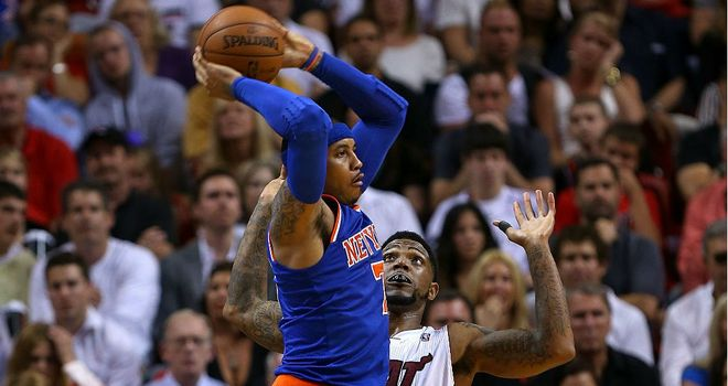 Carmelo Anthony: Racked up 50 points