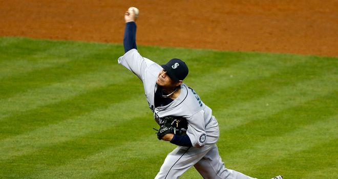 Felix Hernandez: Secured the 100th win of his career