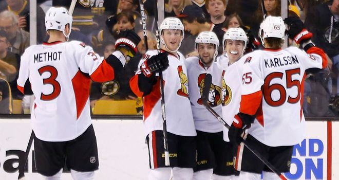 The Ottawa Senators celebrate