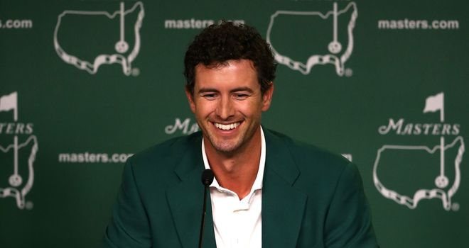Adam Scott: Finally opened his major account at Augusta