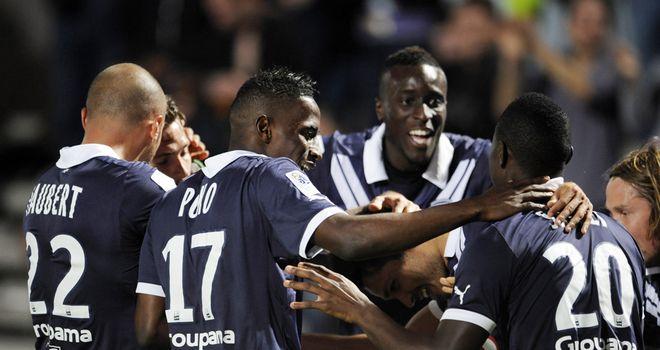 Bordeaux celebrate Jaroslav Plasil's goal