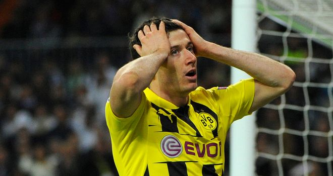Robert Lewandowski: Missed a penalty for Dortmund